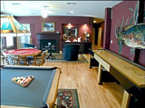 Billards, shuffleboard, cards and board games in our game room