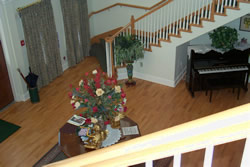 View to the foyer from the stairs